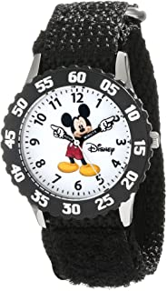 Disney Kids' W000227 Mickey Mouse Stainless Steel Time...