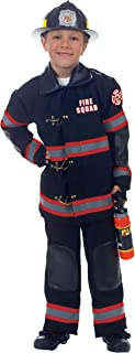 Underwraps Children's Firefighter Costume, Black, Small