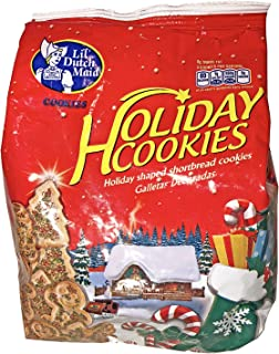 Lil Dutch Maid Holiday Shaped Shortbread Cookies! Santa! Gingerbread Men! Christmas Trees! With Red And Green Sugar Sprinkles! Delicious!
