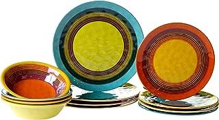 multi colored dish sets