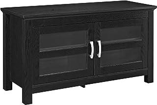 "WE Furniture 2 Door Cabinet Corner Wood Universal Stand for TV's up to 50"" Flat.."