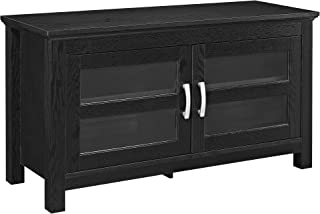 WE Furniture 2 Door Cabinet Corner Wood Universal Stand for TV's up to 50