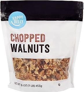 Amazon Brand - Happy Belly Chopped Walnuts, 16 Ounce