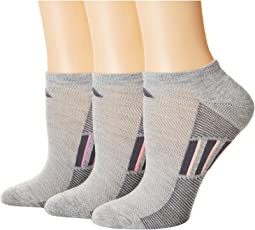 adidas - Climacool® Superlite Stripe No Show Socks 3-Pack