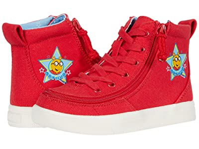BILLY Footwear Kids Classic Lace High Arthur Star (Toddler) (Red) Kid