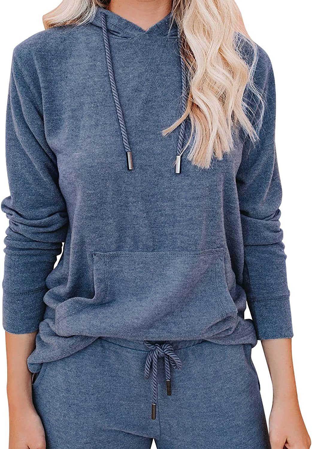 Lounge Sets for Women Two Piece Outfits Sweatsuits Sets Long Pant Loungewear Workout Athletic Tracksuits with Pockets at  Women's Clothing store