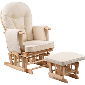 Chatsworth Nursing Glider and Footstool (Oatmeal