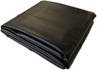 Black 8' Heavy Duty Leatherette Pool Table Cover - 8 Foot Billiard Table Cover