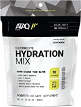 ATAQ Plant Based Electrolyte Hydration Mix, Lemonade, Hydra 4G Mineral Blend, Betaine to Aid Metabolism, No Artificial Swe...