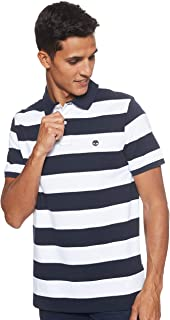 Timberland Men's SS M-R Rugby Stripe Polo