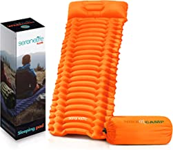 Backpacking Air Mattress Sleeping Pad - Waterproof Lightweight Sleep Pad Inflatable Camping Sleeping Mat w/ Carrying Bag -...