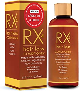 RX 4 Hair Loss Conditioner for Thinning Hair, DHT Blocker, Naturally Organic with Biotin, Aids in Hair Regrowth, Doctor Recommended Growth Shampoo Treatment System Shampoo sold separate