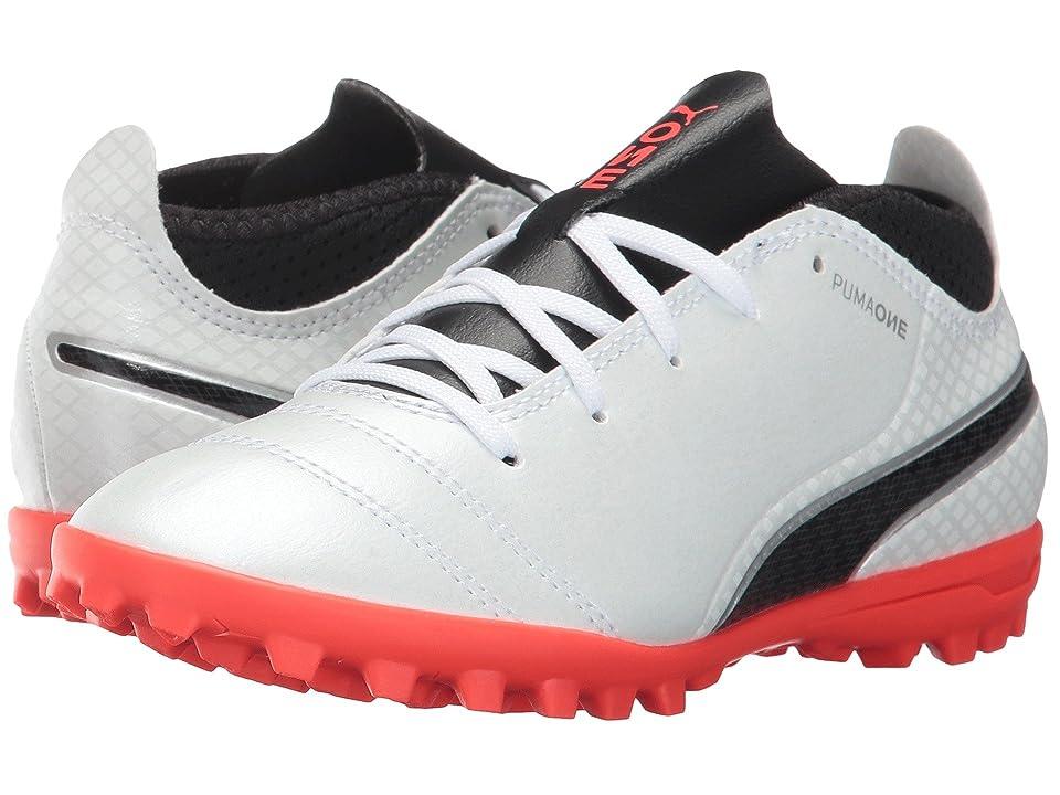 Puma Kids ONE 17.4 TT (Little Kid/Big Kid) (Puma White/Puma Black/Fiery Coral) Kids Shoes