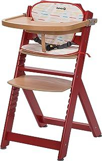 Chaise Haute en bois Ajustable Chaise b/éb/é Escalier chaise haute NATURE HC2533-D01 Creme