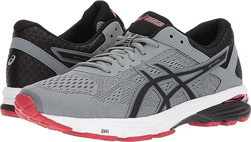 ASICS GT-1000 6 Stone gris negro Classic rojo Men's Running zapatos