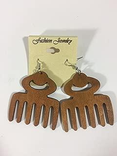 Best wooden afro pick earrings Reviews