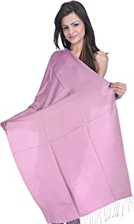 Exotic India Plain Reversible Water-Pashmina Stole from Nepal