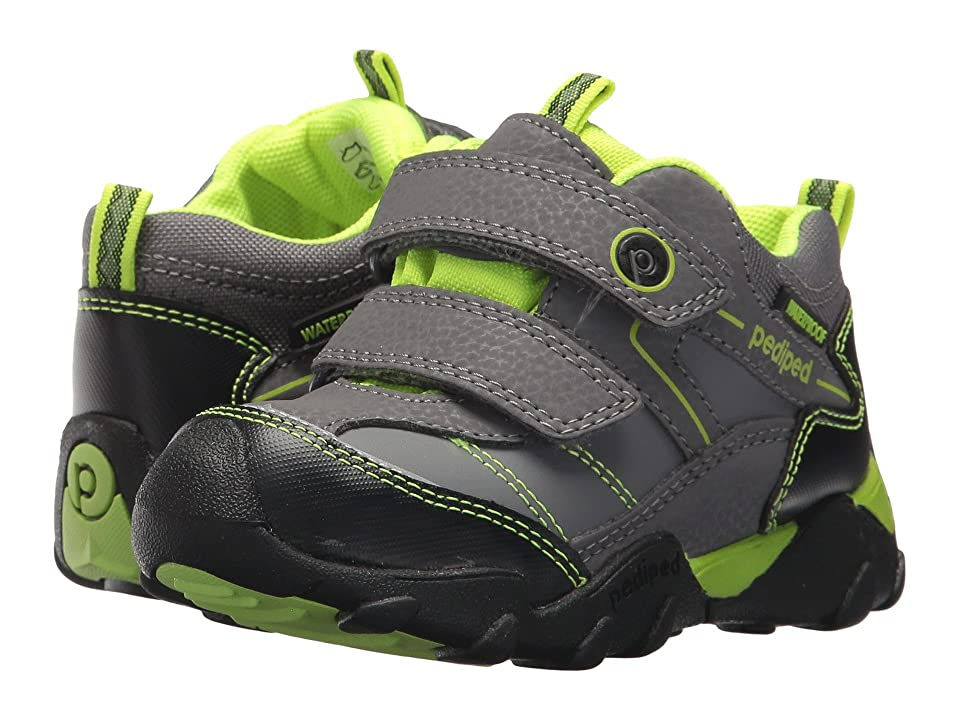 pediped Max Flex (Toddler/Little Kid) (Charcoal/Lime) Kid