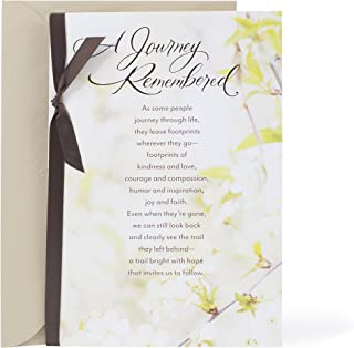 Hallmark Mahogany Religious Sympathy Card (They Leave Footprints)