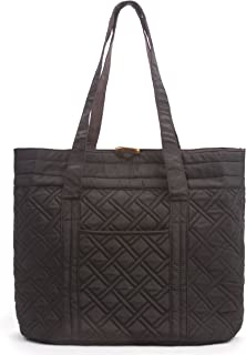 Reversible Quilted Tote Bag - Premium Fabric Womens Shoulder Tote