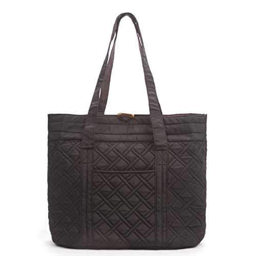5fedd38f80 Overbrooke Reversible Quilted Tote Bag - Premium Fabric Womens Shoulder Tote