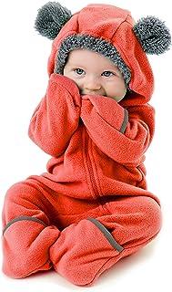 Fleece Baby Bunting Bodysuit – Infant Pajamas Kids Hooded...