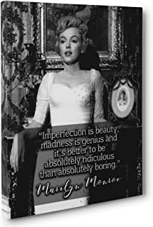 OULII Imperfection Is Beauty Madness Is Genius and Its Better To Be Absolutely Ridiculous Than Absolutely Boring Marilyn Monroe Quote DIY Removable Vinyl Wall Decal Sticker Home Decoration