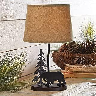 BLACK FOREST DECOR Midnight Bear Metal Table Lamp