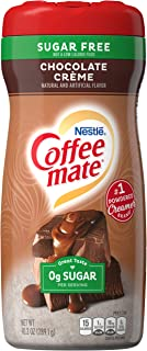 COFFEE MATE Sugar Free Chocolate Crème Powder Coffee Creamer 10.2 Oz. Canister | Non-dairy, Lactose Free, Gluten Free Creamer