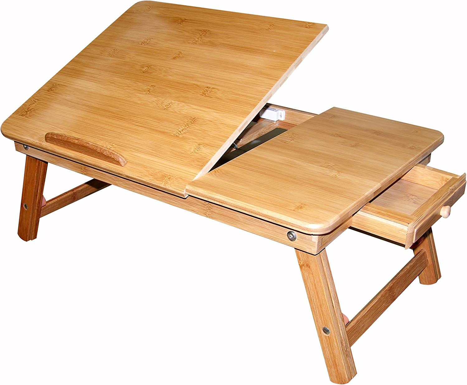 Francois et Mimi Our shop OFFers the best service Bamboo Multi-Position Max 61% OFF Serving Adjustable Tr Bed