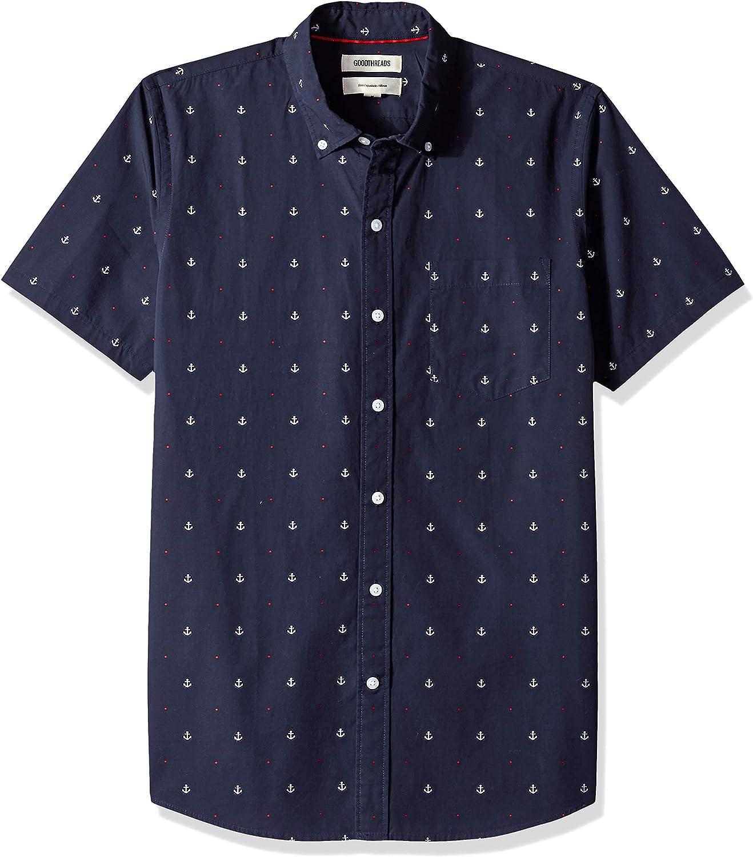 Amazon Brand - Cheap Ranking TOP9 mail order sales Goodthreads Men's Plaid Pop Slim-Fit Short-Sleeve