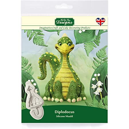 Katy Sue Designs Katy Sue conçoit Diplodocus dinosaure moule en silicone pour la décoration de gâteau, Cupcakes, Sugarcraft, biscuits, artisanat, cartes et bonbons, nourriture sécuritaire Grey