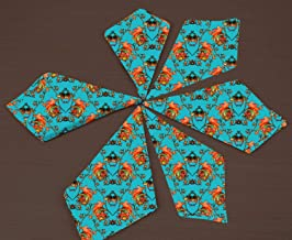 RADANYA Floral Print Cotton Dinner Napkins - for Wedding Party Reception Events Restaurant Kitchen Home-16x16 Inches
