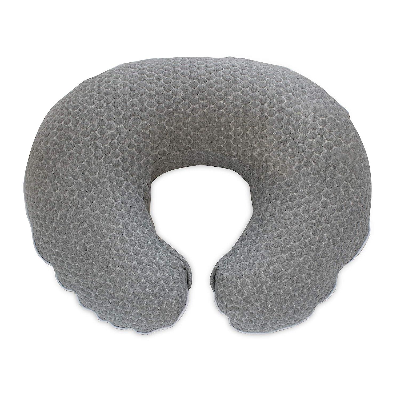 Boppy Preferred Milestones Pillow Cover, Gray Penny Dot