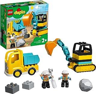 LEGO 10931 DUPLO Town Lastbil och grävmaskin, Byggsats med Leksakslastbil, Barnleksaker, Byggklossar