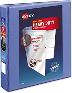 Avery Dennison Heavy-Duty View Binder W/Locking 1-Touch Ezd Rings, 1 1/2