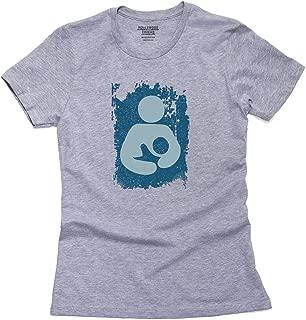 Breastfeeding Symbol - Baby Blue Vintage Flag Women's Cotton T-Shirt