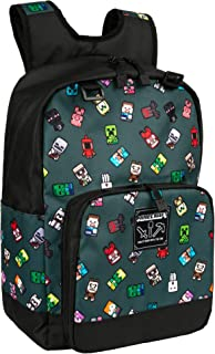 JINX Minecraft Bobble Mobs Kids School Backpack, Gray, 17