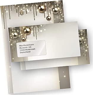 DIN A4 297 x 210mm 90 g//qm 500 Sets + Fensterumschl/äge TATMOTIVE Briefpapier Wei/ße Weihnacht