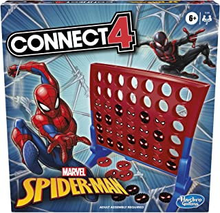 Hasbro Gaming Connect 4 Game: Marvel Spider-Man Edition, Connect 4 Gameplay, Strategy Game for 2 Players, Fun Board Game f...