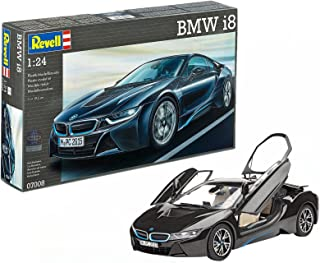 Revell- Maqueta BMW I8, Color Negro (07008)