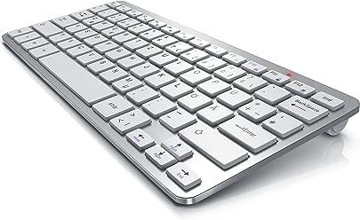 CSL Wireless Funk Tastatur kabelloses Keyboard QWERTZ 5m Reichweite Kompatibel mit Windows 10 Linux Mac OS f r PC Mac Notebook Laptop