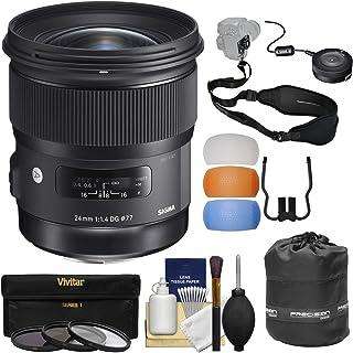 Sigma 24mm f / 1.4アートDG HSMレンズwith USB Dock + 3フィルタ+ストラップ+ポーチ+吹き出し口+キットfor NikonデジタルSLRカメラ
