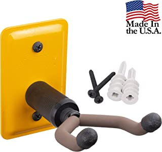 String Swing Ukulele Wall Mount Stand for Mandolin Ukele Banjo – Concert Pineapple Soprano Tenor and Baritone Compatible – Safety Home or Studio Accessories without Case – Yellow YCC11UK
