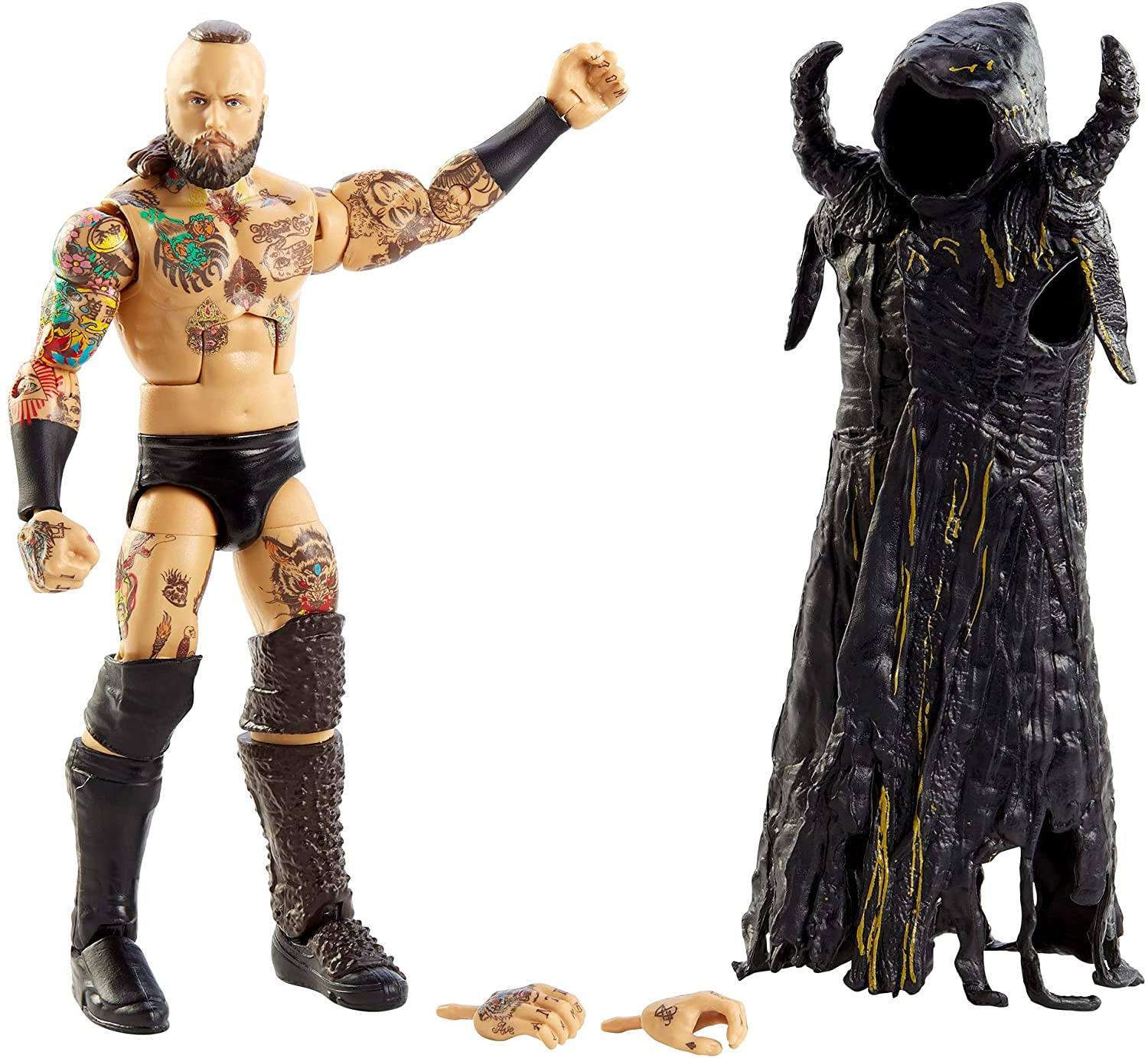 WWE Aleister Black Elite Collection Action Figure, 6-in/15.24-cm Posable...