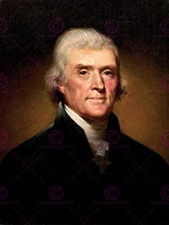Doppelganger33LTD PAINTING ILLUSTRATION FOUNDING FATHER PRESIDENT THOMAS JEFFERSON 18X24'' POSTER ART PRINT LV10537