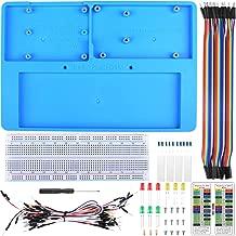 UNIROI 14 in 1 RAB Holder Breadboard,Base Plate Case with Arduino IDE UNOR3 Mega 2560, RAB Holder Raspberry Pi 3 Model B, 2 Model B,1 Model B+ RPI 4B Zero W and Zero(52 Items)