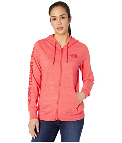 The North Face Lightweight Tri-Blend Full Zip Hoodie (Cayenne Red Heather) Women