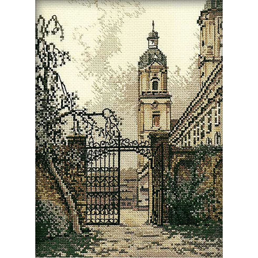 RTO 14 Count The Gate in The Town Counted Cross Stitch Kit, 7.5 by 10.5-Inch