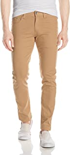 Men's Basic Color Twill Stretch Span Pants